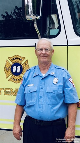 Temple Fire Company Member Retires after 47 Years of Service