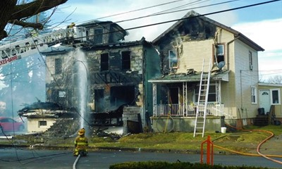 Four-Alarm Structure Fire in Wilkes-Barre City Displaces Residents