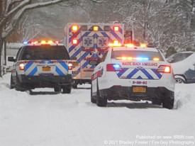 Mastic Beach EMS in Nor'Easter 2021