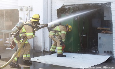 Commercial Building Fire in Anaheim