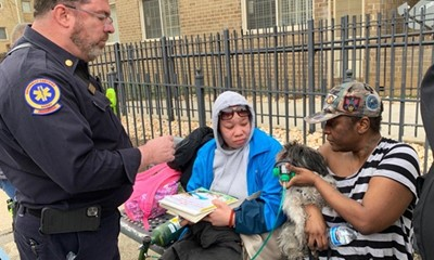 Dog Rescued from Apartment Building Fire