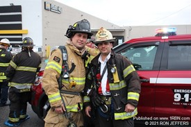 North Hudson Battalion Chief Al Pratts & brother-in-law, Jersey City Firefighter Gus Domecq