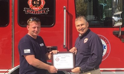 "Bryan County Emergency Services Announces ""Employee of the Quarter"""