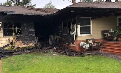 Residential Structure Fire Injures Two Firefighters in El Cajon