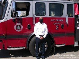 East Orange Fire Chief with New Quint