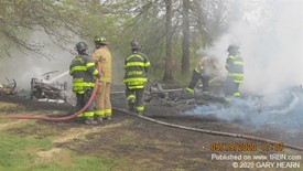 Shed/Brush Fire in Maybrook