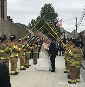 Cedar Grove Deputy Chief Mike Grasso Tyes the Knot!