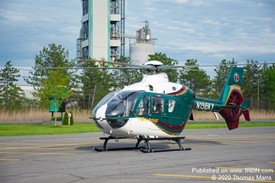 Helicopter Lands in Parking Lot for Trauma Patient