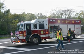 Brookhaven FD Rescue truck 3 in action at a recent Vehicle Crash.