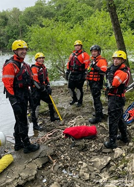 Reading Fire Recruits Complete Water Rescue Training