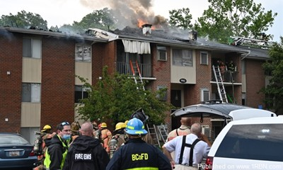 Three-Alarm Apartment Fire in Middle River, MD