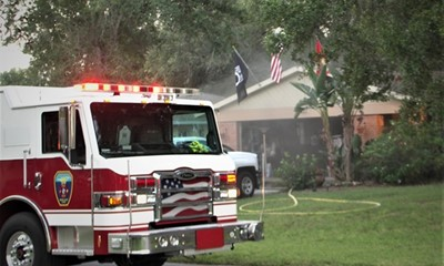SMOKEY GARAGE FIRE IN SOUTHERN MANATEE FIRE DISTRICT