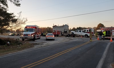 Angier & Black River FD responds on a 2 car motor vehicle accident.