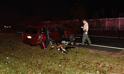 DRIVER EJECTED DURING ROLLOVER