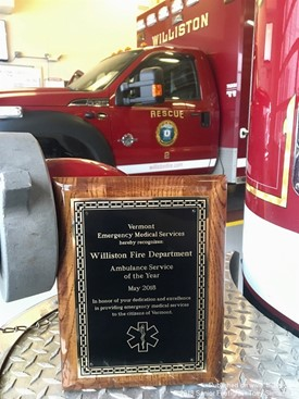 Williston FD Named Ambulance of the Year 2018