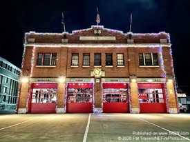 Burlington VT Fire House Ready For Christmas